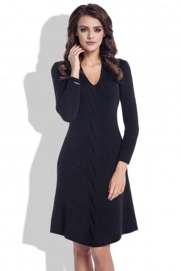 Wełniana sukienka F331