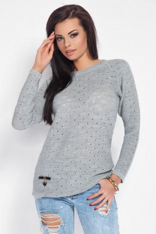 Cienki Sweterek z Dziurkami F192
