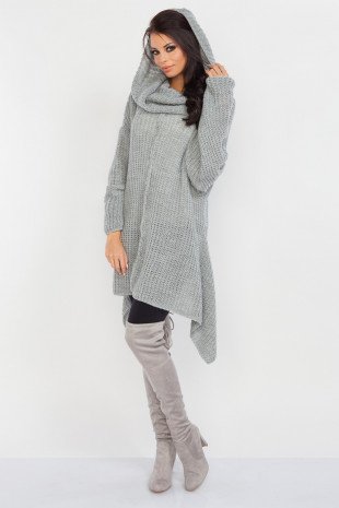 Asymetryczny sweter F224