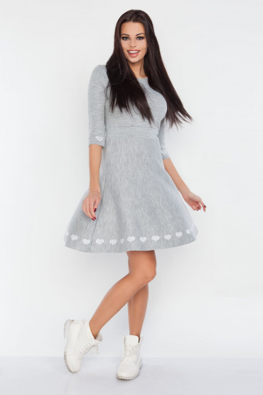 Rozkloszowana sukienka F237
