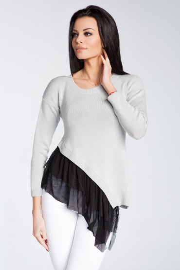 Asimetrical blouse with frill F246