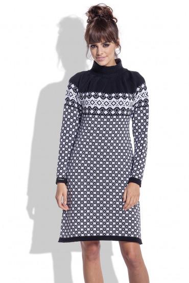 Żakardowa sukienka F335