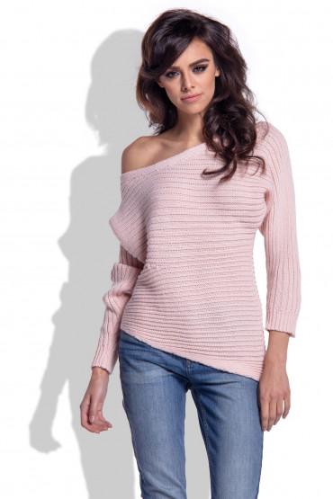Asymetryczny sweter F344