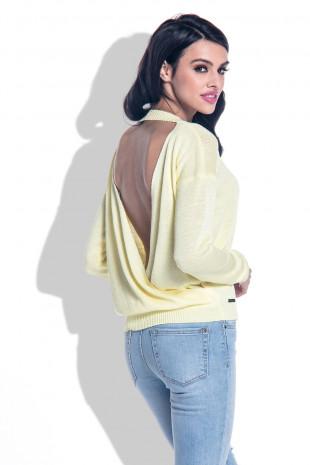 Sweter z rozcięciem F361