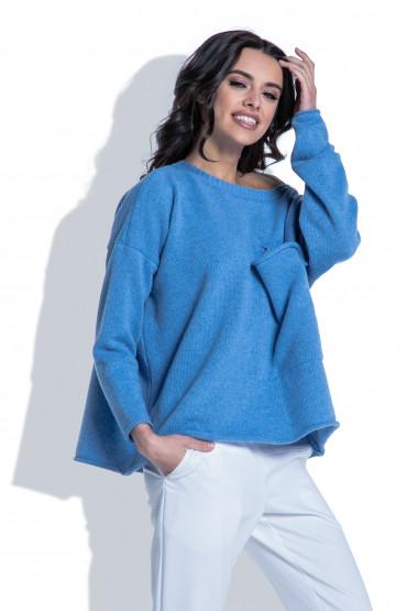 Sweter z kieszenią F403