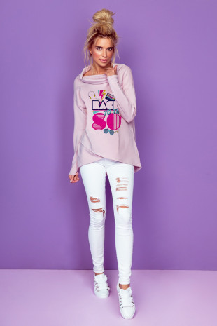 Bluza pink 80,s K206