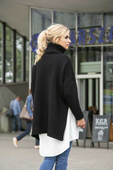Sweter oversize F551