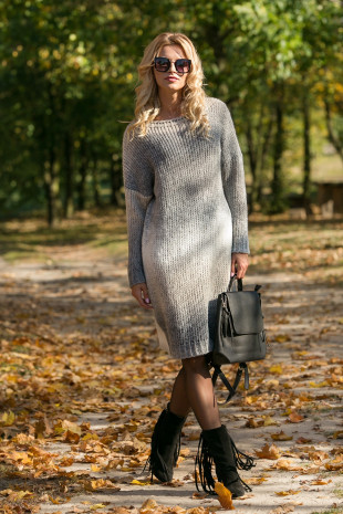 Wełniana sukienka F579