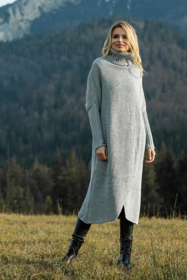 Sweter maxi F621