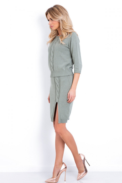 Komplet bluzka ze spódnicą F627