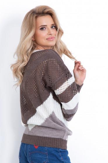 Sweter ażurowy F629
