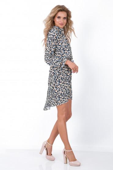 Sukienka asymetryczna F674