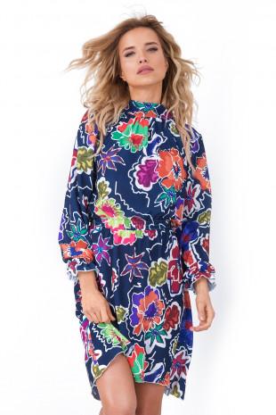 Sukienka w kwiaty F678