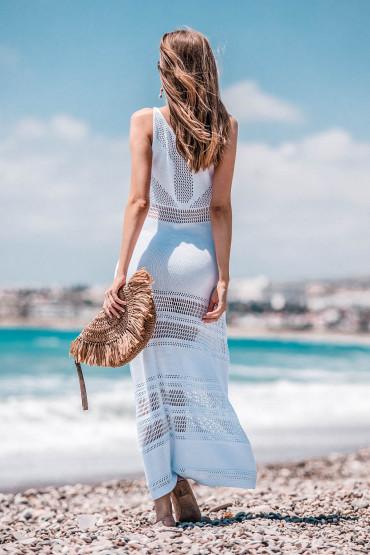 Maxi sukienka F733