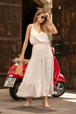 Sukienka maxi F738