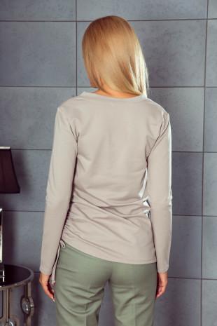 Bluzka z broszką sowa K252