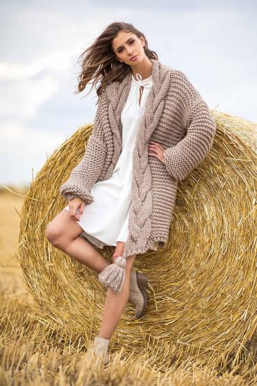 Cardigan Chunky Knit F756