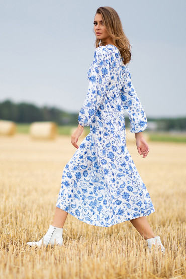 Sukienka Porcelain Maxi F752