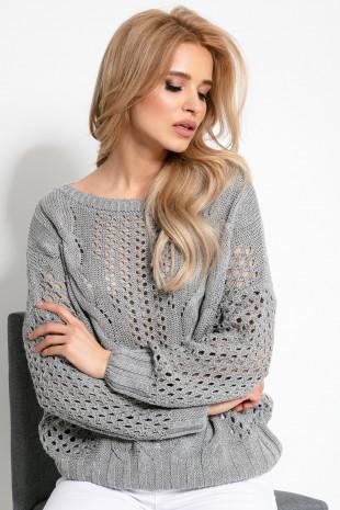 Sweterek ażurowy F893