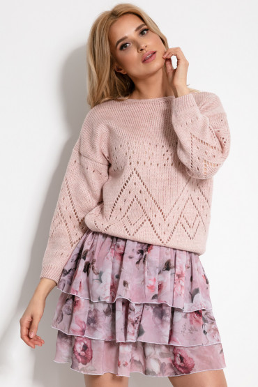 Sweterek ażurowy F902