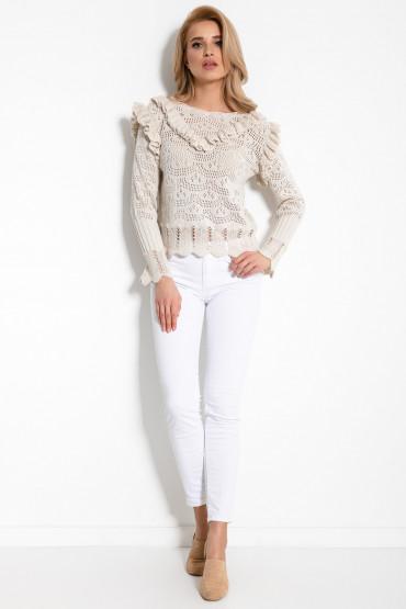Sweterek z falbankami F908