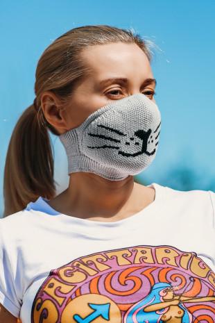 Maska ochronna Grey Cat
