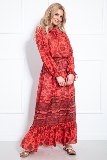 Długa sukienka F975