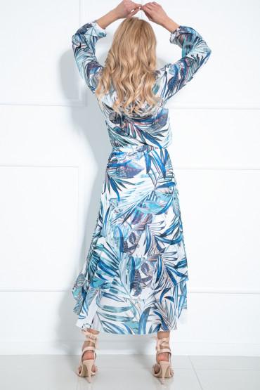 Komplet długa asymetryczna spódnica i bluzka F1015