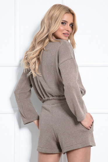 Komplet bluza szorty F1020