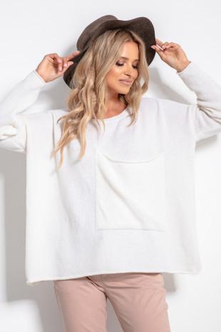 Sweter z kieszenią F1056
