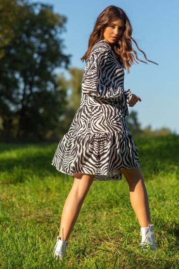 Sukienka z printem F1096
