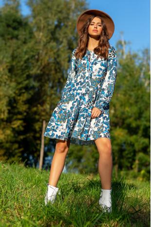 Sukienka z printem F1092