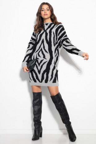 Sukienka zebra F1106
