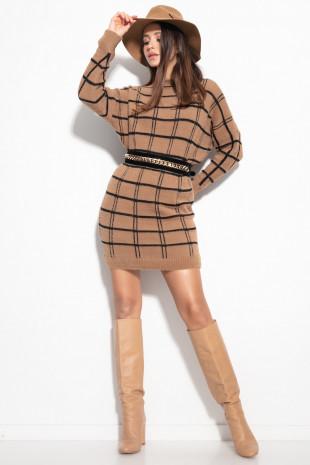 Sukienka w kwadraty F1103