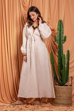 Lniana sukienka F1202