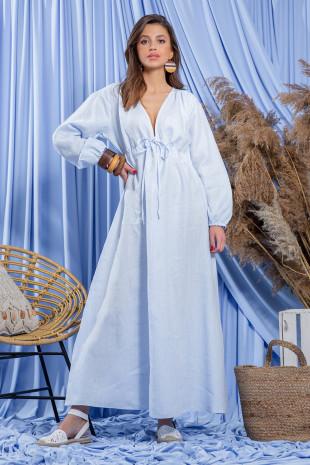 Lniana sukienka F1203