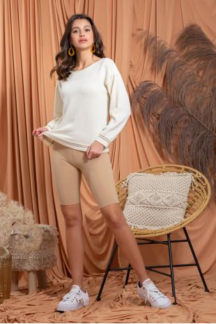 Sweter z wełny merino F1204