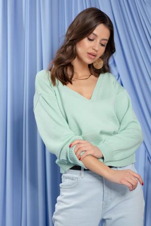 Sweter z wełny merino F1207