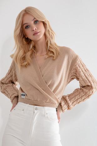 Sweter z wełny merino F1209